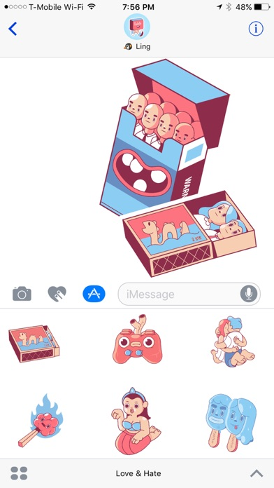 Love & Hate - Crazy Stupid Love Sticker Pack