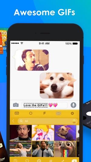 RainbowKey - colori Tastiera Temi, fonts & GIF Screenshot