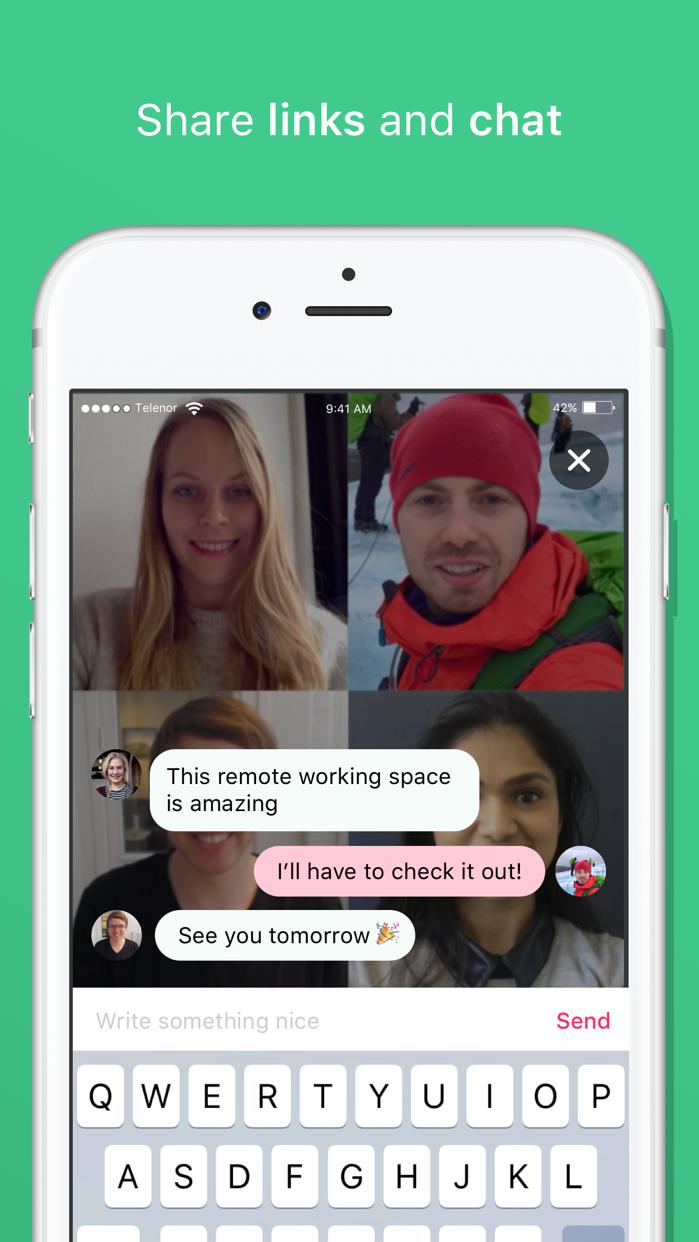 appear.in — video meetings Screenshot