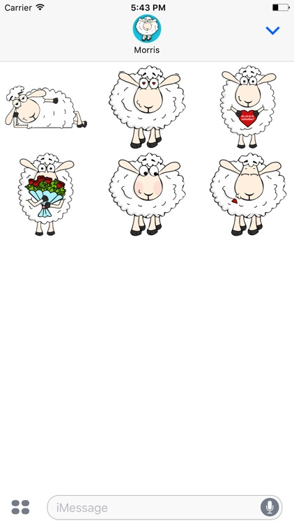 Morris the Sheep Valentine's Day