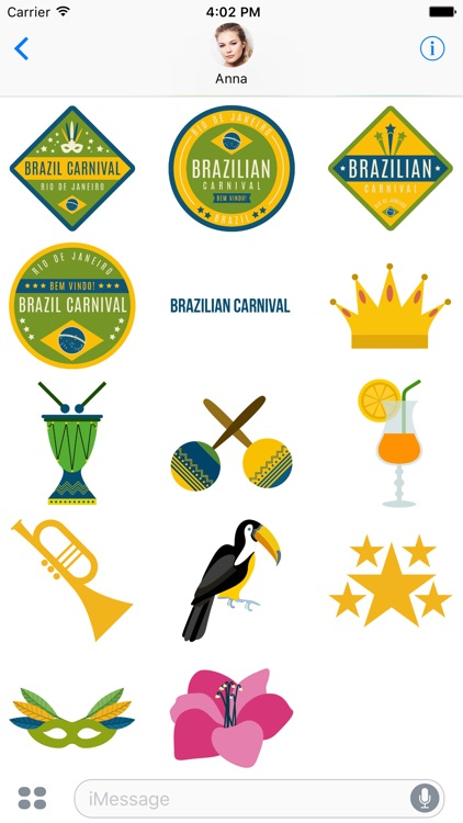 I Love Brazil - Sticker Pack for iMessage