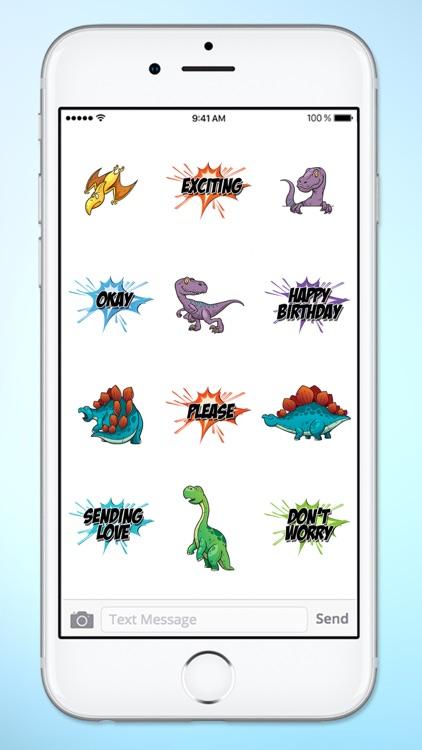 Dinosaur and Word Sticker Pack screenshot-3