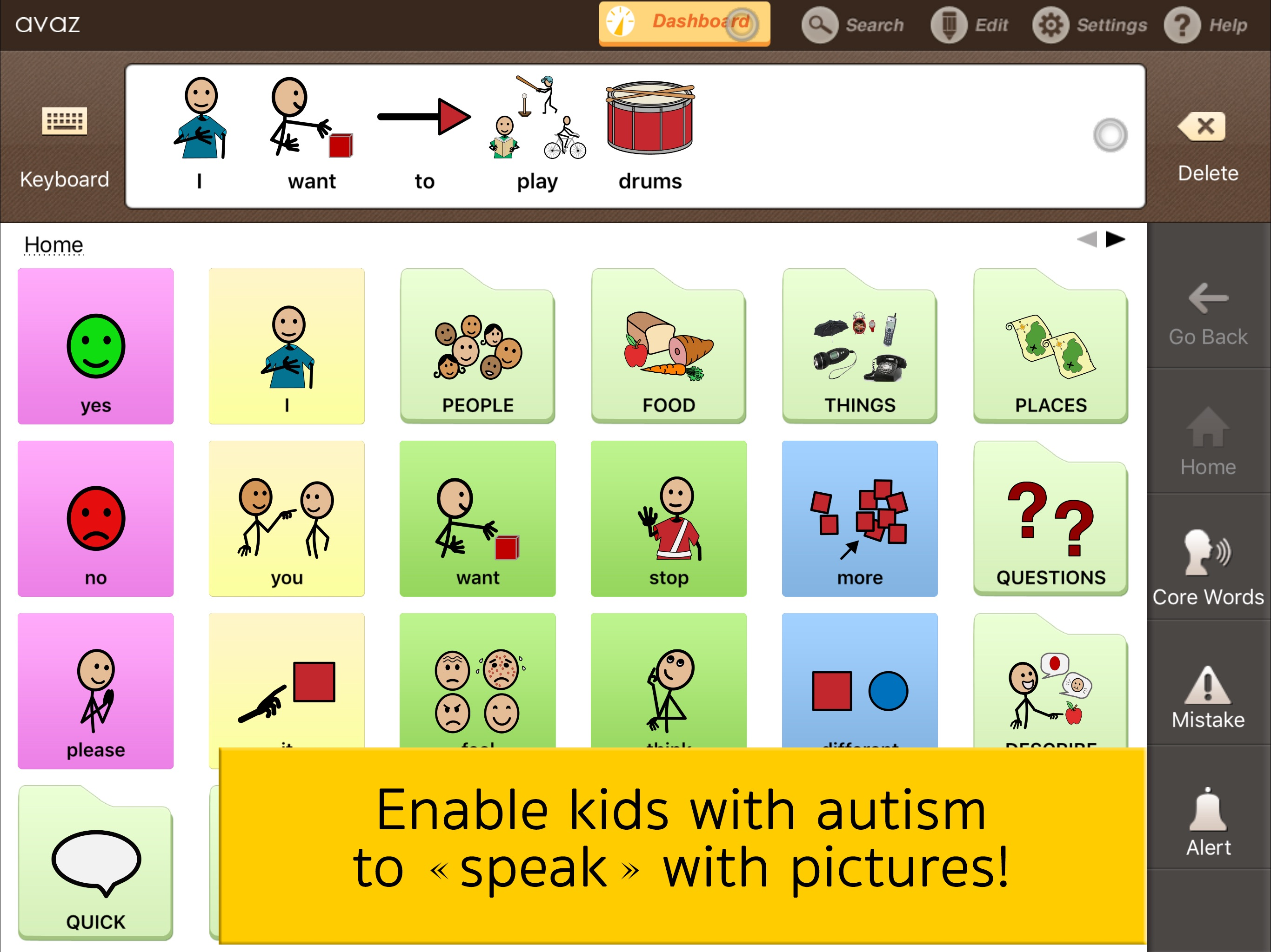 Avaz Pro - AAC app for Autism Screenshot