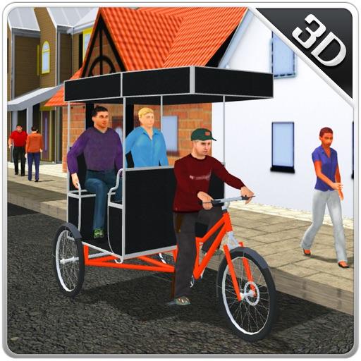 Тук Тук велосипеда водитель рикши и chingchi сим