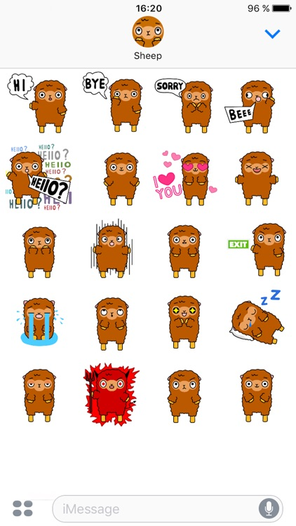 Funny Sheep Stickers