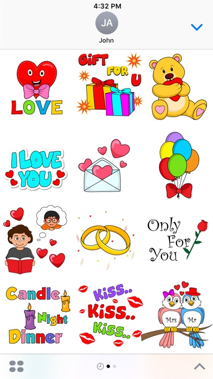 Romantic Valentine Stickers Pack