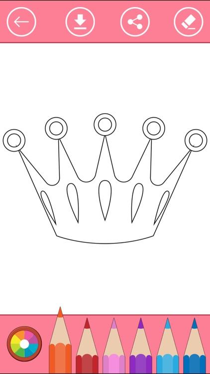 Royal Coloring Book: Color princess, castle, ... screenshot-3
