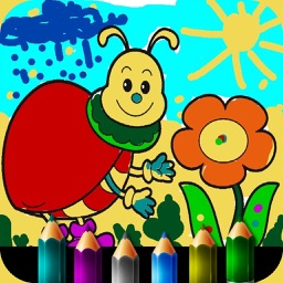 Coloring book for little girls. HD