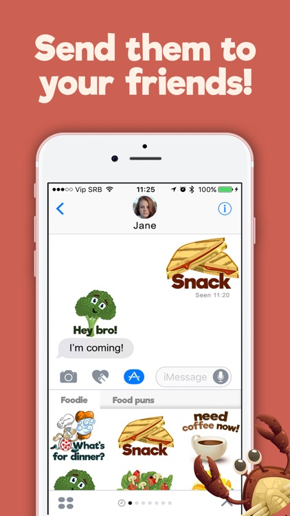 Food and Drinks Fun Free Sticker.s for iMessage