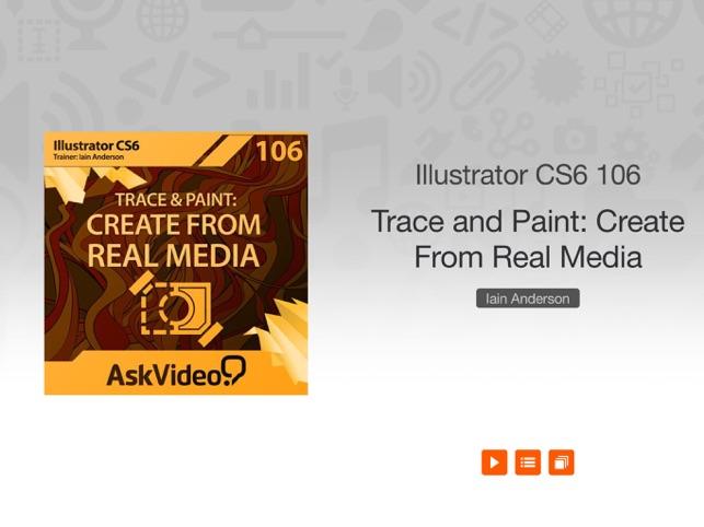 Illustrator CS6 Trace & Paint