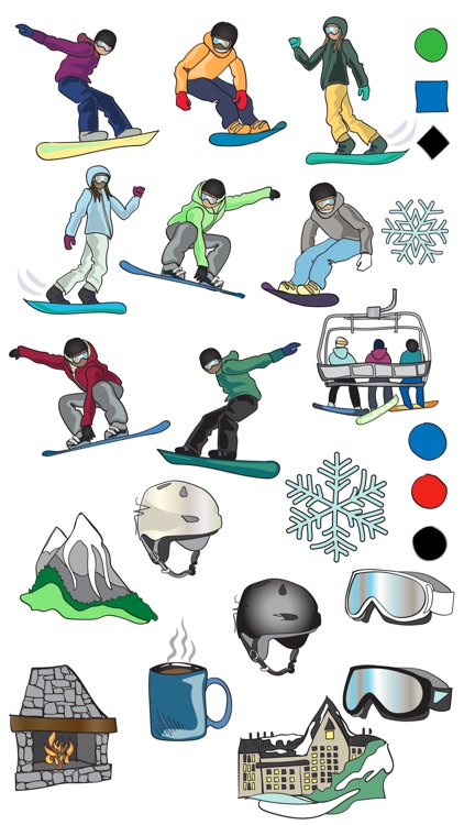 Snowboarding Sport Stickers