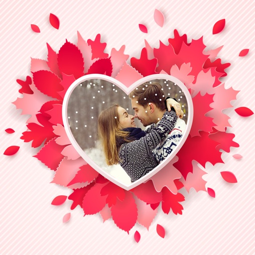 valentines day frames photo collage editor app logo