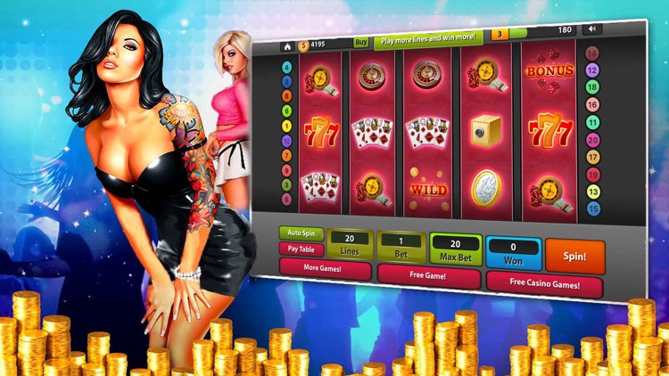 Sexy women on party vegas casino slots game