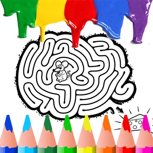 Maze Coloring BookPages Free For Kids Toddler App Data & Review ...