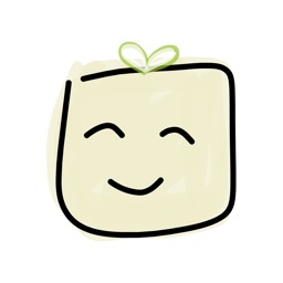 Tofu by mDeltaV - cute food stickers for iMessage