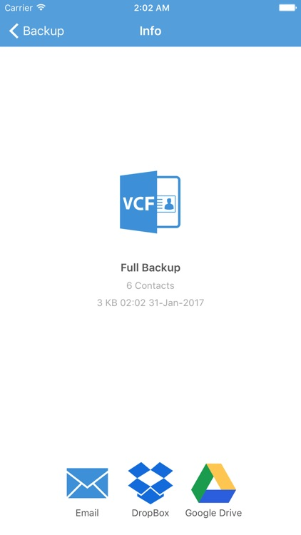 Contacts Backup - Save Your Contacts screenshot-2