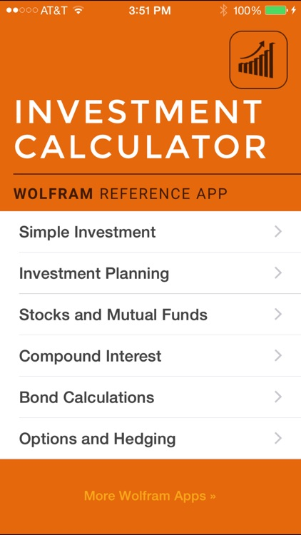 Wolfram Investment Calculator Reference App screenshot-0