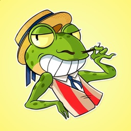 Frog in the Hat Stickers