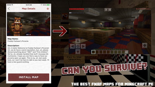 Fnaf maps for minecraft pe on the app store screenshots gumiabroncs Choice Image