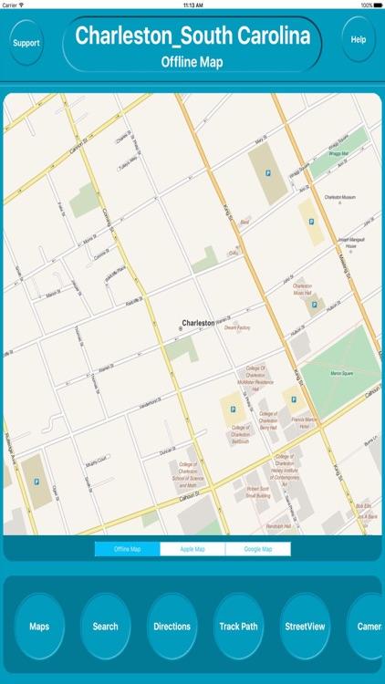 Charleston SC USA City OfflineMap Navigation EGATE