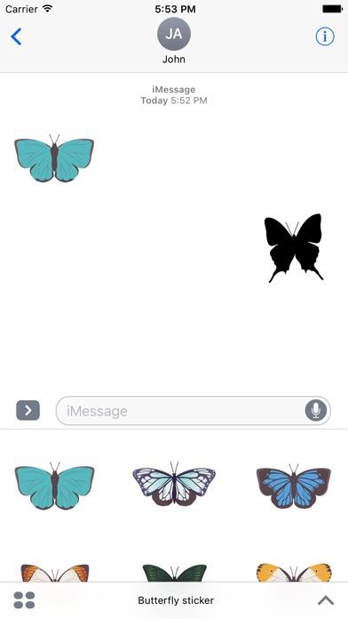 Pop und schicke SchmetterlingsaufkleberScreenshot von 1