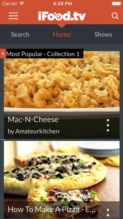 iFood.TV for iPad: Video Recipes and Food Diary