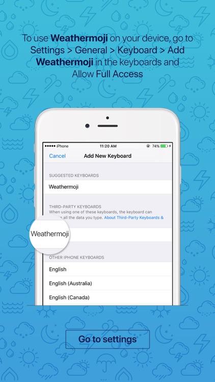 Weathermoji - Weather Stickers Emoji Keyboard screenshot-3