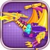 机械翼龙:组装恐龙玩具——双人益智拼装小游戏