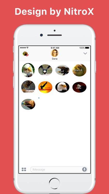 Eagle emoji stickers by NitroX for iMessage