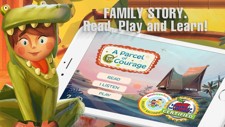 A Parcel of Courage book for kids with puzzles screenshot-0
