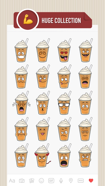 CoffeeMoji - coffee stickers & emoji for iMessage screenshot-1