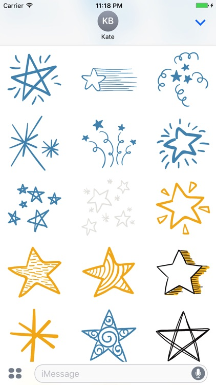 Animated Cute Star Stickers screenshot-3