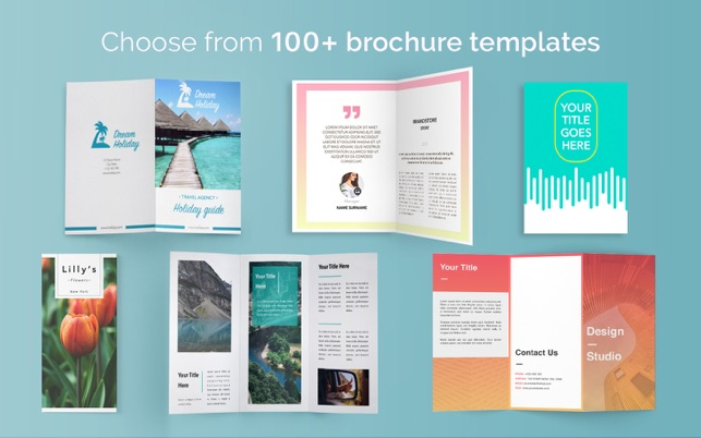 Brochure Templates 100 Brochures For Pages On The Mac App Store