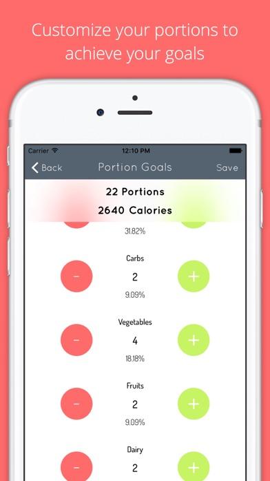 Portion Tracker screenshot two