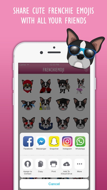 FrenchieMoji: French Bulldog Emojis screenshot-4
