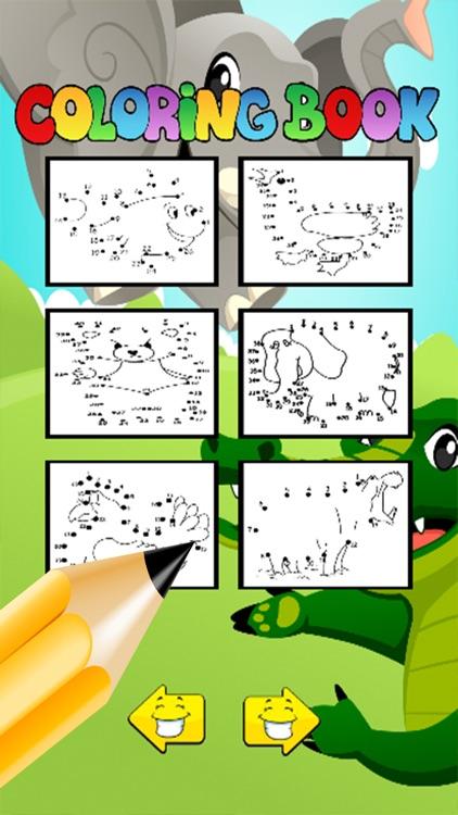 Animals Dot To Dot:finger paint for kids fun games screenshot-3