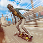 Skate Heroes . Extreme Skaters Race