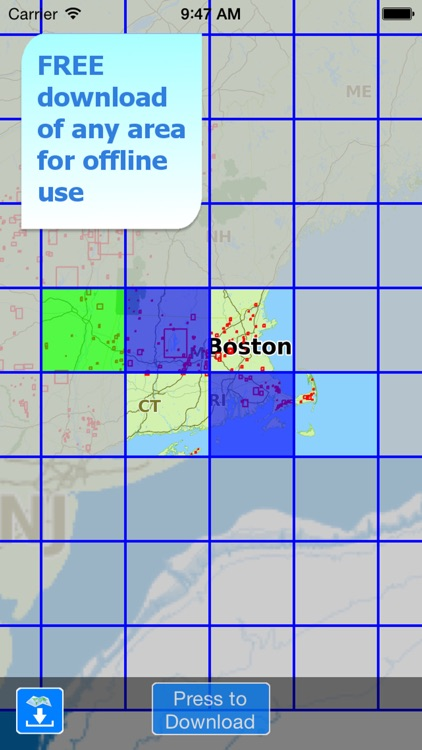 Aqua Map Massachusetts MA Lakes HD- Nautical Chart screenshot-4