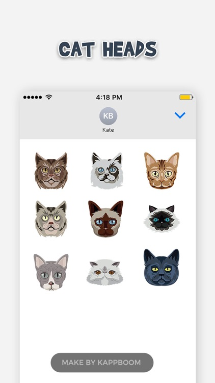 Cat Heads Emoji Stickers screenshot-4