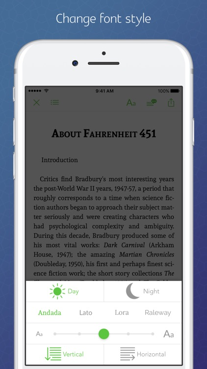 Fahrenheit 451 - synced transcript, notes screenshot-3