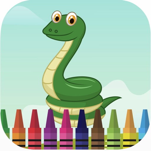 Planet of zoo animal coloring book games for kids iOS App