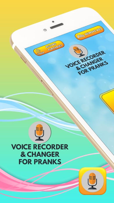 Voice Recorder & Changer for Pranks screenshot one