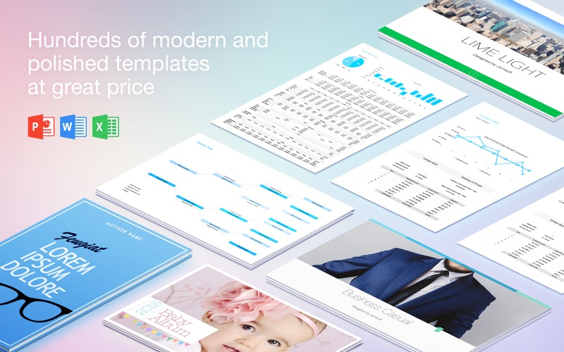 Templates for MS Word by GN 5.0.1 Mac 破解版 – MS Word模板-爱情守望者