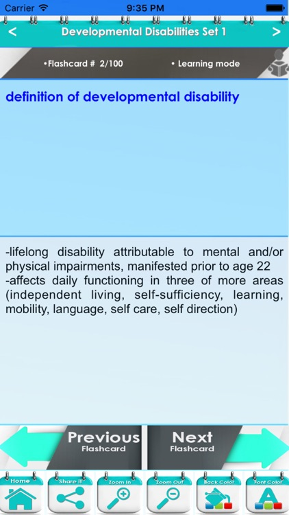 Developmental Disabilities 4000 Flashcards & Quiz