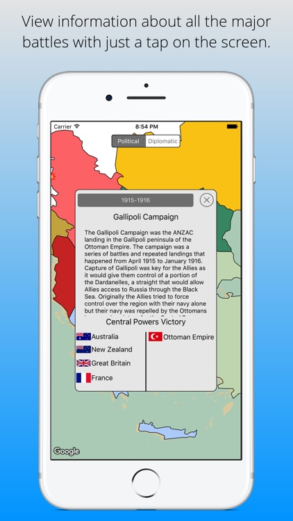 Great War Map - Interactive WWI Map of the World