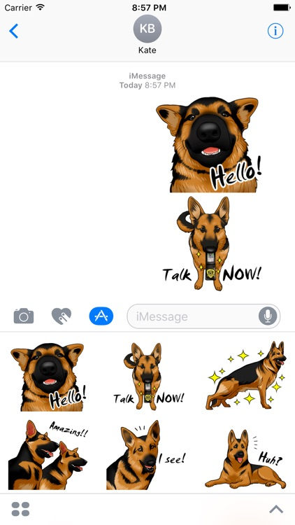 German Shepherd Dog Stickers for iMessage