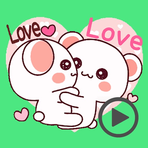 Cutie Bear Love Animated