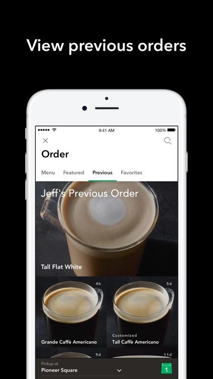 Starbucks app image