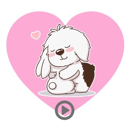 Valentine Puppy - animated stickers pack