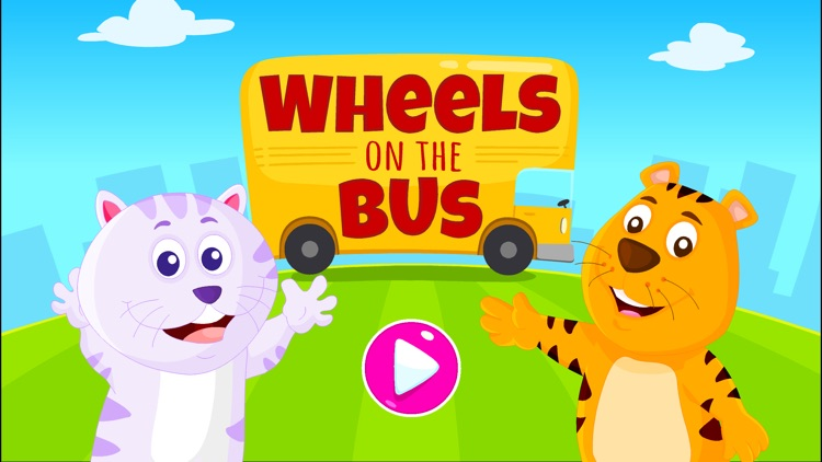 Wheels On The Bus - Kidlo Nursery Rhymes For Kids screenshot-0